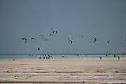 Kitesurfing in the Indian Ocean Photographed on the East Coast, Zanzibar