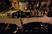 STREET OUTSIDE THE CLUB, Dinner hosted by Elizabeth Saltzman for Mario Testino and Kate Moss. Mark's Club. London. 5 June 2010. -DO NOT ARCHIVE-© Copyright Photograph by Dafydd Jones. 248 Clapham Rd. London SW9 0PZ. Tel 0207 820 0771. www.dafjones.com.