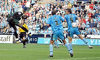 Photo: Ed Godden.<br />Coventry City v Plymouth Argyle. Coca Cola Championship. 30/09/2006. Cherno Samba (L) scores for Plymouth.