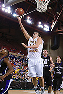 November 25th, 2010:  Anchorage, Alaska - University of Alaska-Anchorage forward Taylor Rohde (34) attempts a lay up in the Seawolves 54-86 loss to Weber State in the first round of the Great Alaska Shootout.