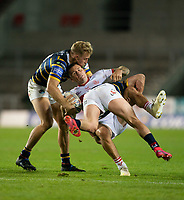 Rugby League - 2020 / 2021 Coral Challenge Cup - Quarter-final - Leeds Rhinos vs Hull Kingston Rovers<br /> <br /> Hull Kingston Rovers Shaun Kenny-Dowall is tackled, at the TW Stadium.