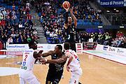 Gomes Joao<br /> Victoria Libertas Pesaro - Dolomiti Energia Trentino<br /> Lega Basket Serie A 2017/2018<br /> Pesaro, 25/03/2018<br /> Foto A.Giberti / Ciamillo - Castoria
