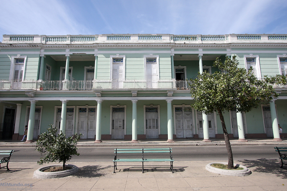 Neo-classical architecture in Cienfuegos, Cuba. January 2009.