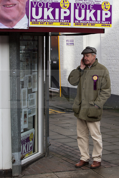 © Licensed to London News Pictures . FILE PICTURE DATED 10/02/2014 of NEIL HAMILTON campaigning for UKIP in the Wythenshawe and Sale East By-election . The Vice Chairman of UKIP , Neil Hamilton , has been removed from the post ofUKIP's Campaigns Director and replaced by the party's director of communications , Patrick O'Flynn . Photo credit : Joel Goodman/LNP