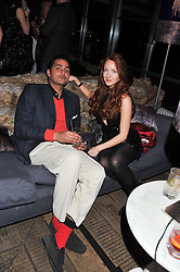 JOSEPH KATZ and OLIVIA GRANT at the InStyle Best of British Talent Event in association with Lancôme and Charles Worthington held at The Rooftop Restaurant, Shoreditch House, Ebor Street, E1 on 26th January 2012.