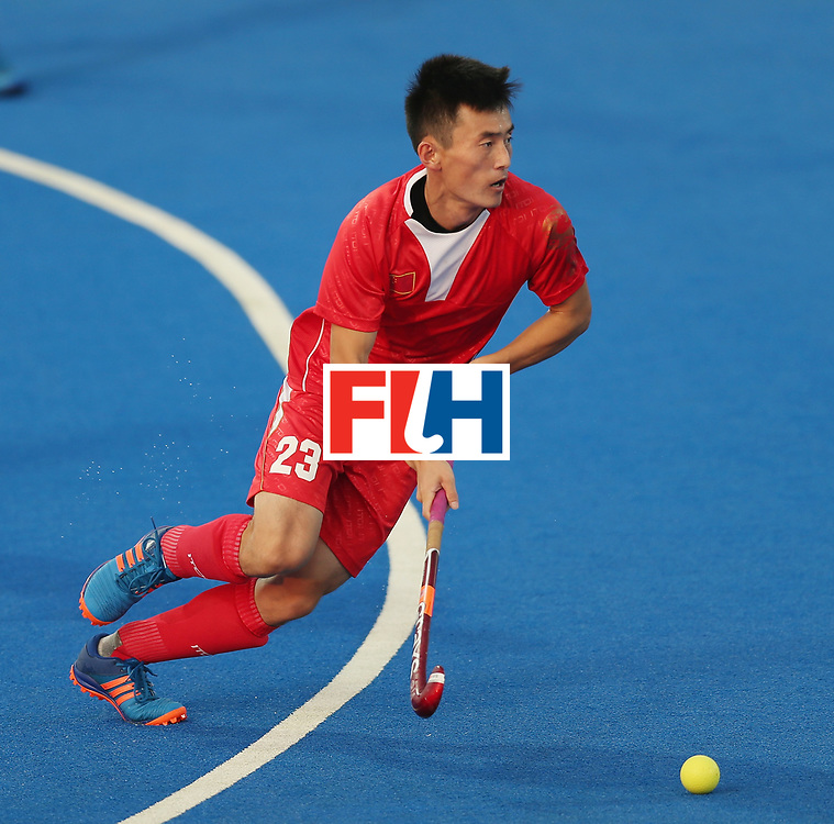 LONDON, ENGLAND - JUNE 19:  Zixiang Gou of China during the Pool A match between Argentina and China on day five of Hero Hockey World League Semi-Final at Lee Valley Hockey and Tennis Centre on June 19, 2017 in London, England.  (Photo by Alex Morton/Getty Images)