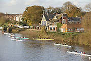 London, Great Britain,   Lea RC. at the start of the 2009 Veterens Fours of the River Race, raced over the Championship Course, Mortlake to Putney, on the River Thames.   Sunday, 15/11/2008. [Mandatory Credit: Karon Phillips/Intersport Images]