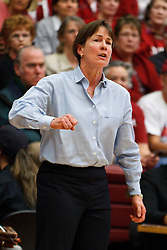 March 21, 2011; Stanford, CA, USA; Stanford Cardinal head coach Tara VanDerveer on the sidelines against the St. John's Red Storm during the second half of the second round of the 2011 NCAA women's basketball tournament at Maples Pavilion. Stanford defeated St. John's 75-49.