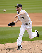 CHICAGO - APRIL 20:  Chris Sale #49 of the Chicago White Sox pitches against the Los Angeles Angels of Anaheim on April 20, 2016 at U.S. Cellular Field in Chicago, Illinois.  The White Sox defeated the Angels 2-1.  (Photo by Ron Vesely)   Subject: Chris Sale