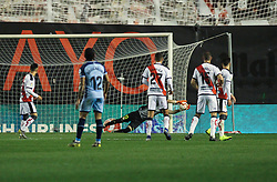 March 1, 2019 - Madrid, Madrid, Spain - Dimitrievski of Rayo Vallecano in action during La Liga Spanish championship, , football match between Rayo Vallecano and Girona , March 01th, in Estadio de Vallecas in Madrid, Spain. (Credit Image: © AFP7 via ZUMA Wire)