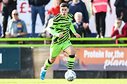 Forest Green Rovers Jack Aitchison(29), on loan from Celtic runs forward during the EFL Sky Bet League 2 match between Forest Green Rovers and Mansfield Town at the New Lawn, Forest Green, United Kingdom on 19 October 2019.