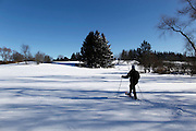 Snowshoeing in a new blanket of snow in Saukville, Wis. Jeffrey Phelps photo