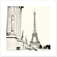 La Tour Eiffel, Paris, France - Monochrome version. Inkjet pigment print on Canson Infinity Rag Photographique 310gsm 100% cotton museum grade Fine Art and photo paper.<br />