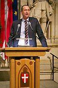 Vienna, Austria. Cocktail reception hosted by Mayor Michael Häupl at City Hall for international scientists and researchers living and working in Vienna.<br /> Andreas Mailath-Pokorny, Executive City Councillor for Cultural Affairs and Science.