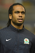 Blackburn Rovers striker Nathan Delfouneso during the Sky Bet Championship match between Birmingham City and Blackburn Rovers at St Andrews, Birmingham, England on 3 November 2015. Photo by Alan Franklin.