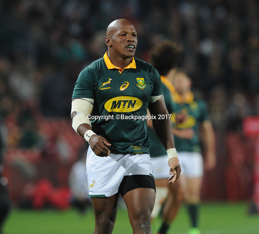 Bongi Mbonambi of South Africa  during the 2017 International Incoming Series rugby match between SA and France on 24 June 2017 at Ellis Park Stadium   © Sydney Mahlangu /BackpagePix
