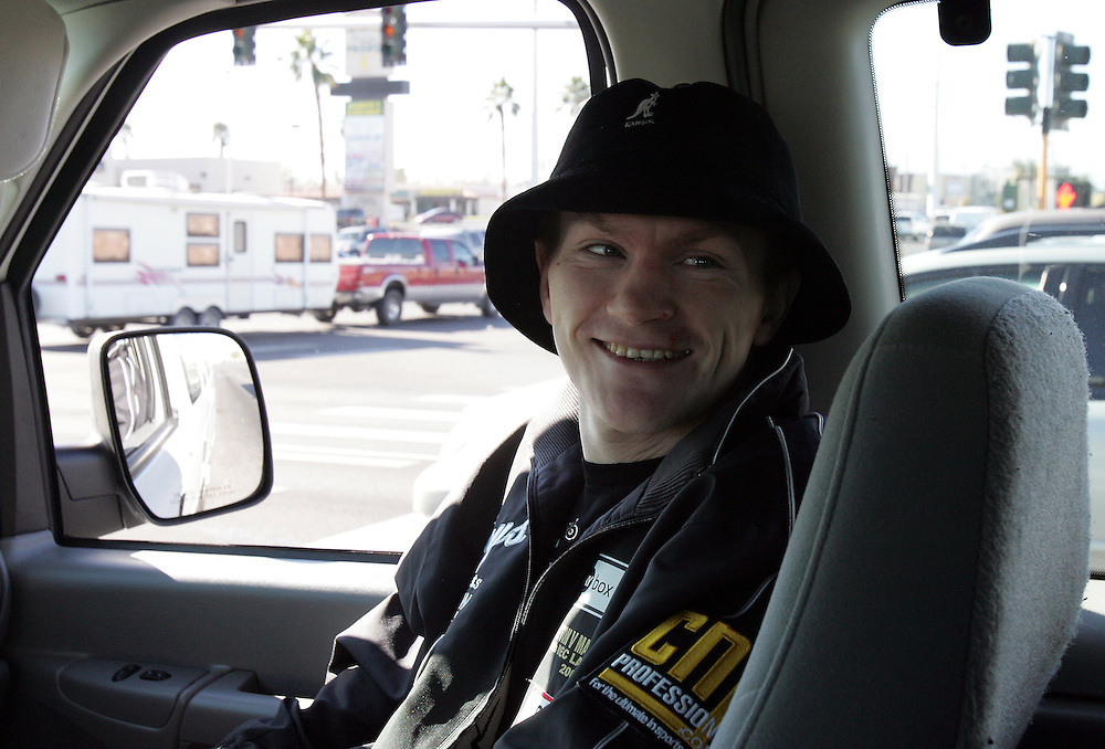 Ricky Hatton on route to the final press conference. Ricky Hatton v Floyd Mayweather, Las Vegas, Nevada.