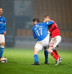 St Johnstone&rsquo;s James McFadden and Ross County's Michael Gardyne.<br /> St Johnstone 2 v 1 Ross County, Scottish Premiership 22/11/2014 at St Johnstone&rsquo;s home ground, McDiarmid Park.