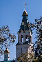 Russia, Sakhalin, Yuzhno-Sakhalinsk. A new Orthodox church.