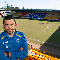 St Johnstone defender Callum Davidson pictured at McDiarmid Park today, looking forward to tomorrow nights game at Inverness Caley Thistle....04.04.13<br /> Picture by Graeme Hart.<br /> Copyright Perthshire Picture Agency<br /> Tel: 01738 623350  Mobile: 07990 594431