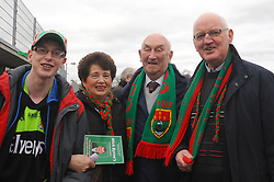 Darren Carter, Sally and Mick Kelly and Paddy Joyce at McHale park for the Mayo v Kerry national football league encounter. Pic Conor McKeown