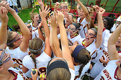 03 May 2015:  The Winthrop lacrosse team won the 2015 Big South Conference Championship Sunday afternoon, defeating the Liberty Flames 13-8 to earn the conference's automatic bid to the NCAA Tournament at Eagle Field in Rock Hill, South Carolina. Credit - Tim Cowie/Sideline Sports