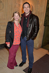 JOANNA PAGE and JAMES THORNTON at the opening night of Cirque du Soleil's award-winning production of Quidam at the Royal Albert Hall, London on 7th January 2014.