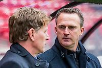 ALKMAAR - 06-03-2016, AZ - Excelsior, AFAS Stadion, 2-0, Excelsior coach Alfons Fons Groenendijk, AZ trainer John van den Brom.