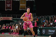 February 11, 2018: Ama Degbeon #25 of Florida State in action during the NCAA basketball game between the Miami Hurricanes and the Florida State Seminoles in Coral Gables, Florida. The Seminoles defeated the 'Canes 91-71.