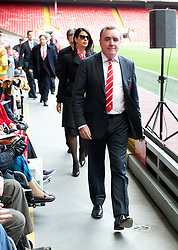 15.04.2013, Anfield Road, Liverpool, ENG, PL, Liverpool FC, 24. Jahrestag der Hillsborough Katastrophe, im Bild Liverpool's Managing Director Ian Ayre during the 24th Anniversary Hillsborough Service at Anfield, Liverpool, United Kingdom on 2013/04/15. EXPA Pictures © 2013, PhotoCredit: EXPA/ Propagandaphoto/ David Rawcliffe..***** ATTENTION - OUT OF ENG, GBR, UK *****