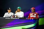 April 20, 2014 - Shanghai, China. UBS Chinese Formula One Grand Prix. Nico Rosberg  (GER), Mercedes Petronas, Lewis Hamilton (GBR), Mercedes Petronas, Fernando Alonso (SPA), Ferrari