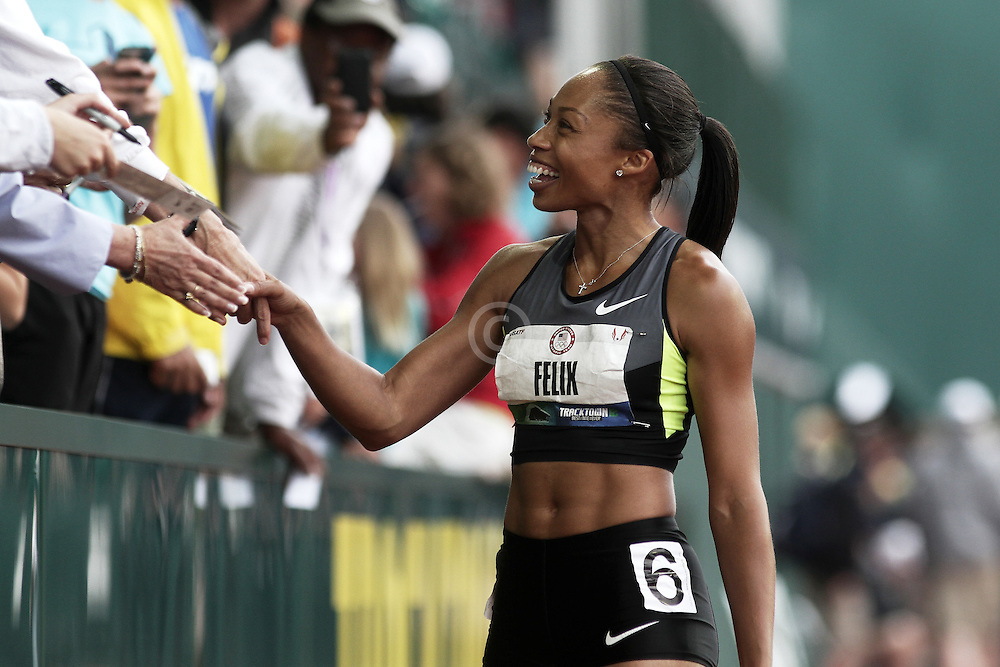 Olympic Trials Eugene 2012: women's 200 meters, Allyson Felix, winner