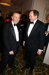 Left to right, IAN HISLOP and CLIVE ANDERSON at the Costa Book Awards 2006 held at The Grosvenor House Hotel, Park Lane, London W1 on 7th February 2007.<br />
