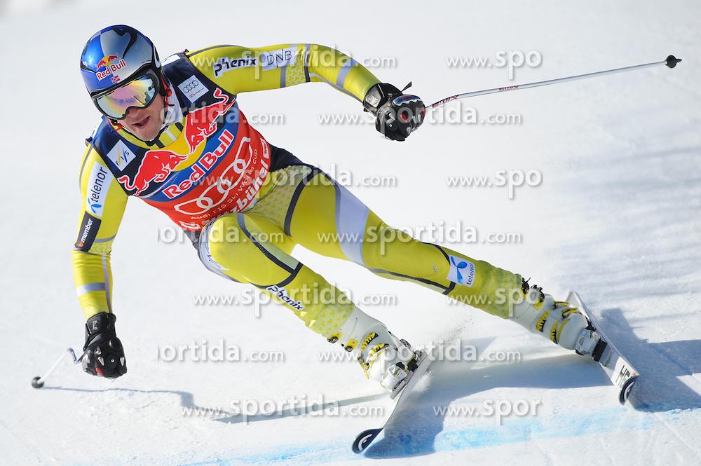 23.01.2013, Streif, Kitzbuehel, AUT, FIS Weltcup Ski Alpin, Abfahrt, Herren, 2. Training, im Bild Aksel Lund Svindal (NOR) // Aksel Lund Svindal of Norway in action during 2nd practice of mens Downhill of the FIS Ski Alpine World Cup at the Streif course, Kitzbuehel, Austria on 2013/01/23. EXPA Pictures © 2013, PhotoCredit: EXPA/ Erich Spiess