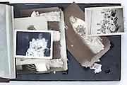 falling apart vintage photo album