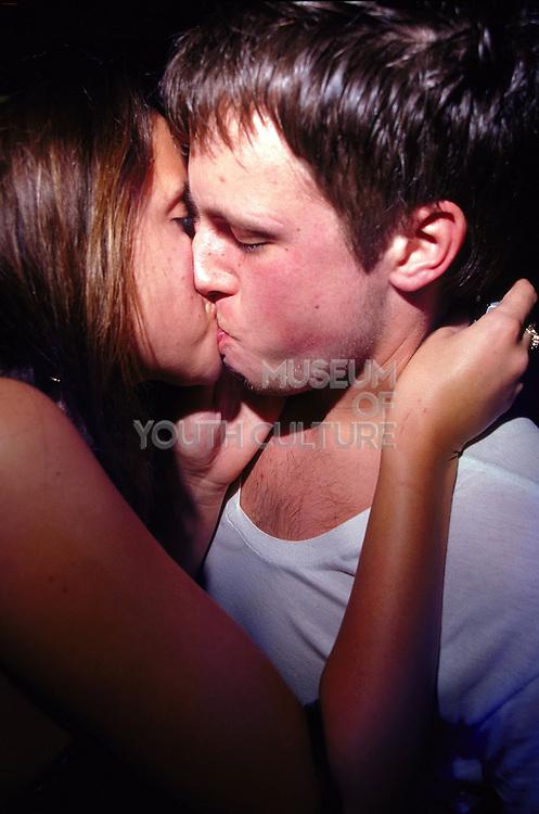 Couple kissing at Sugar Shack Middlesborough April 2002