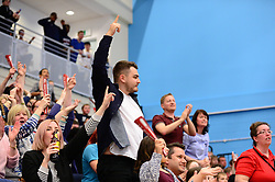 Bristol Flyers fans - Photo mandatory by-line: Dougie Allward/JMP - 01/04/2017 - BASKETBALL - SGS Wise Arena - Bristol, England - Bristol Flyers v Leeds Force - British Basketball League