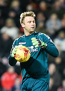 Bournemouth goalkeeper Artur Boruc during the Sky Bet Championship match between Bournemouth and Derby County at the Goldsands Stadium, Bournemouth, England on 10 February 2015. Photo by David Charbit.