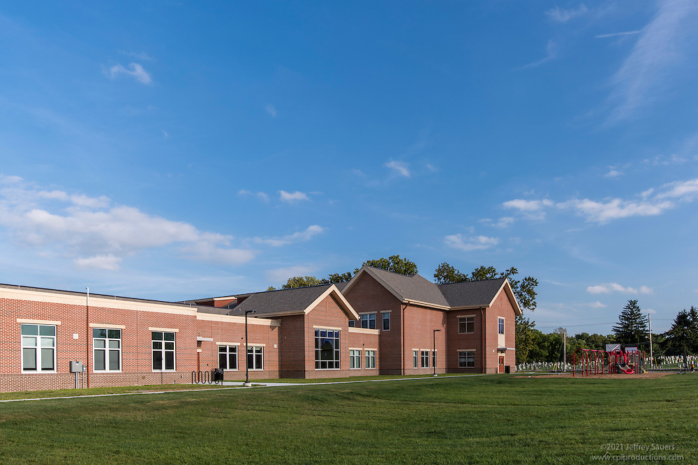 Architectural Image of Bester Elementary School in Hagerstown Maryland by Jeffrey Sauers of Commercial Photographics, Architectural Photo Artistry in Washington DC, Virginia to Florida and PA to New England