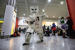 © licensed to London News Pictures. London, UK 28/10/2012. People cosplaying at ExCeL, London as they visit MCM Expo. Photo credit: Tolga Akmen/LNP