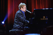 Photos of musician Elton John performing live at the Carnegie Hall Medal of Excellence Gala event at the Waldorf Astoria, NYC. June 13, 2013. Copyright © 2013 Matthew Eisman. All Rights Reserved