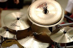 24 November 2006:  Cymbal set up on a drum set<br />