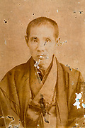 portrait of man in kimono Japan ca 1930s