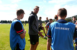 Pierce Phillips of Worcester Warriors leads a coaching session as Worcester Warriors host a Summer Holiday Training Camp at Malvern College - Mandatory by-line: Robbie Stephenson/JMP - 16/08/2017 - RUGBY - Malvern College - Worcester, England - Worcester Warriors - Malvern Rugby Camp