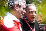 April 15-17, 2016: Chinese Grand Prix, Shanghai, Sergio Marchionne, Maurizio Arrivabene, team principal of Scuderia Ferrari