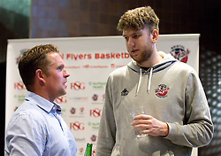 Michael Vigor chats to sponsors - Mandatory by-line: Robbie Stephenson/JMP - 12/09/2016 - BASKETBALL - Ashton Gate Stadium - Bristol, England - Bristol Flyers Sponsors Event