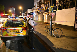 © Licensed to London News Pictures. 10/09/2019. London, UK. The scene where Josiph Beker AKA Yousef, was stabbed to death outside KFC on Edgware Road. Zeshuan Daley, 18, and a 17-year-old have today (Mon) been convicted of murder. Photo credit: Ben Cawthra/LNP