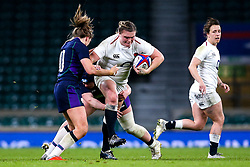 Sarah Bern of England Women takes on Helen Nelson of Scotland Women - Mandatory by-line: Robbie Stephenson/JMP - 16/03/2019 - RUGBY - Twickenham Stadium - London, England - England Women v Scotland Women - Women's Six Nations