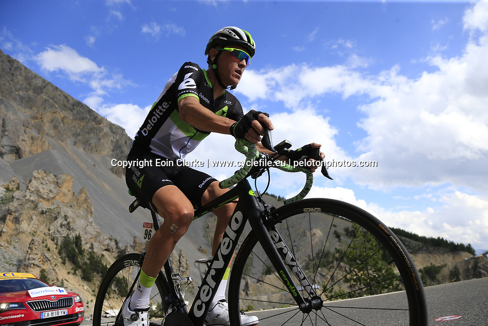 Serge Pauwels (BEL) Dimension Data climbs through the Caisse Deserte on Col d'Izoard during Stage 18 of the 104th edition of the Tour de France 2017, running 179.5km from Briancon to the summit of Col d'Izoard, France. 20th July 2017.<br /> Picture: Eoin Clarke | Cyclefile<br /> <br /> All photos usage must carry mandatory copyright credit (&copy; Cyclefile | Eoin Clarke)