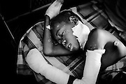 Goz Beida, Chad - <br /> <br /> !2 year old Kahmis Guma Adam in the hospital in Goz Beida, He was wounded when a handgrenade exploded in the classroom in the refugeecamp Goz Amir  - Eastern Chad - March 2007.